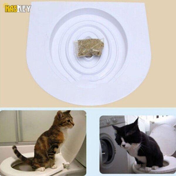 Hackey Bộ Dụng Cụ Tập Ngồi Vệ Sinh Cho Mèo Di Động, Khay Đựng Rác Nguyên Bản Có Củ Cải Mèo