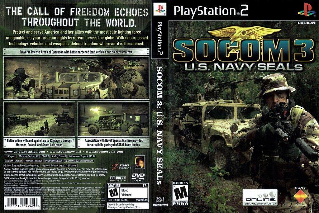 Ps2 SOCOM 3 US Navy SEALs