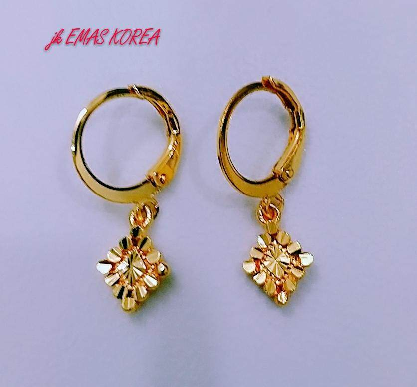 Emas Korea Jewellery Earring Golden Plated By Jk Emas Korea.