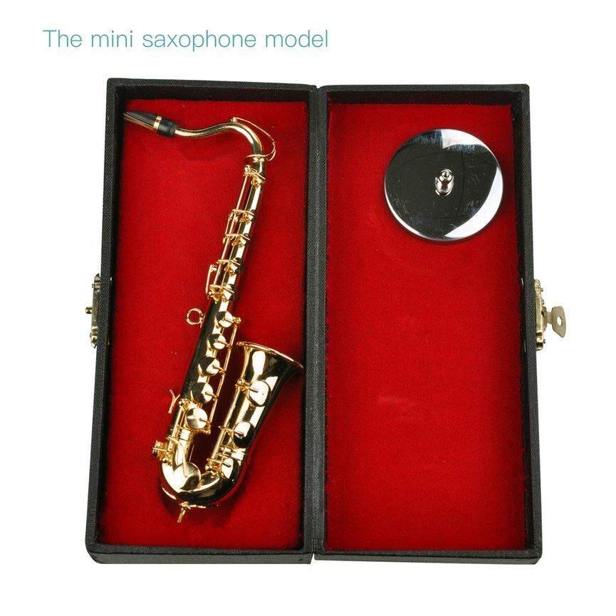 Top Dijual Mini Saxophone Alat-Alat Musik Goldplated Mini Ature Saxophone Dekorasi Rumah By Lifeforever.