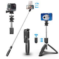 Gậy Tự Sướng Amorus Dài 1 Mét, Gậy Tự Sướng Ba Chân Cho Điện Thoại Camera Gopro, Gậy Tự Sướng Giá Ba Chân SELFIESHOW L02, Gậy Tự Sướng Điều Khiển Bluetooth Không Dây Cho Điện Thoại Hp 4.0-6.2 Inch, Có Chân + Hẹn Giờ Bluetooth