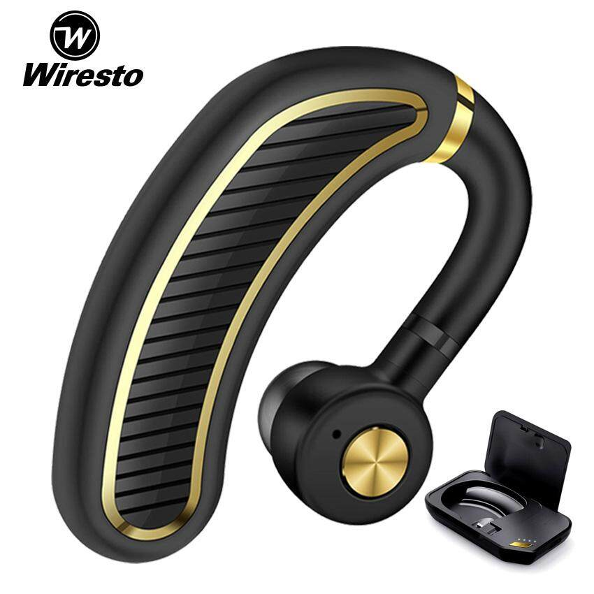 Wiresto Wireless Earbud Bluetooth Headset Mini Stereo Sport Earphone  Business Invisible Headphone Noise Canceling Earpiece with Microphone for  Car