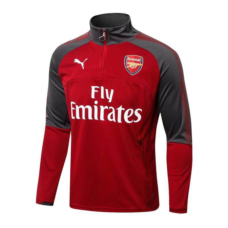 03dc72d65fc 【Flash Sale】17/18 Top Quality Arsenal Football Long Sleeve Training Jersey T