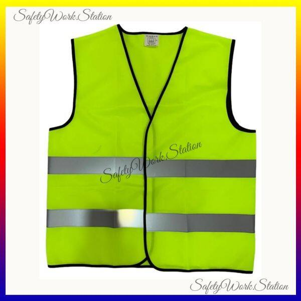 SAFETY VEST F SERIES LIME GREEN WITH GREY REFLECTOR