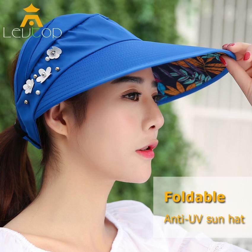 Women Protective Hat Outdoor Sun Hat Beach Wide Brim Summer Anti-UV Visor Caps