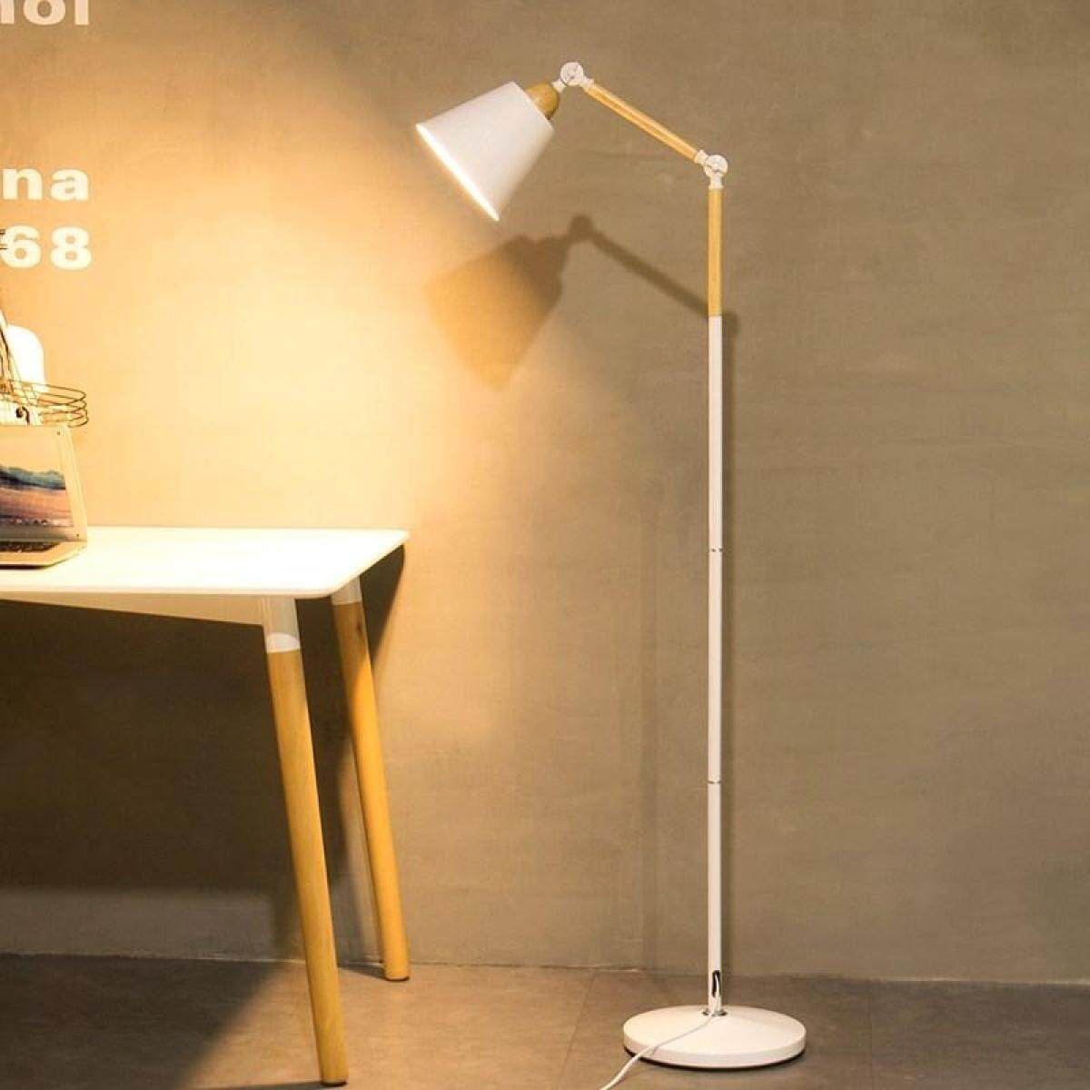 Floor Lamp Modern Minimalist LED Eye Protection Fishing Lamp Remote Control Creative Nordic Living Room Bedroom Study Vertical Table Lamp 3W 160*28cm