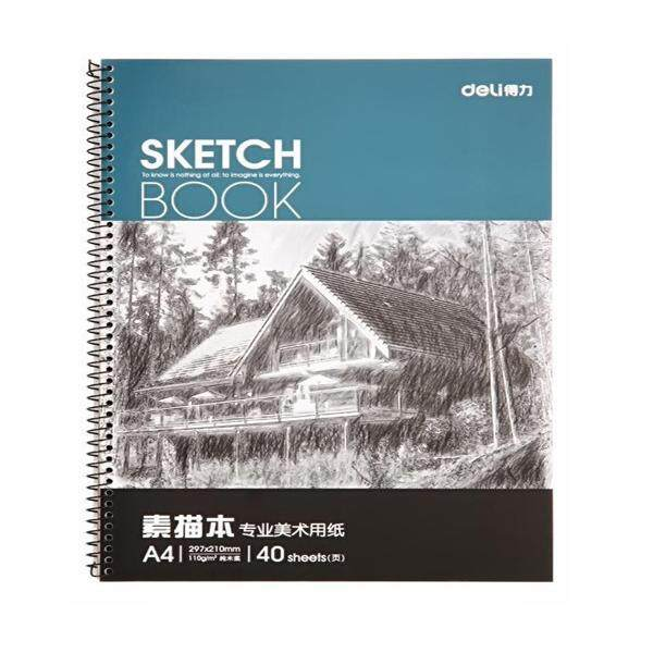 【free Shipping + Super Deal + Limited Offer】deli 7698 Professional Art Painting Paper A4 Sketch Paper Sketchbook 40 Pages/book By Freebang.