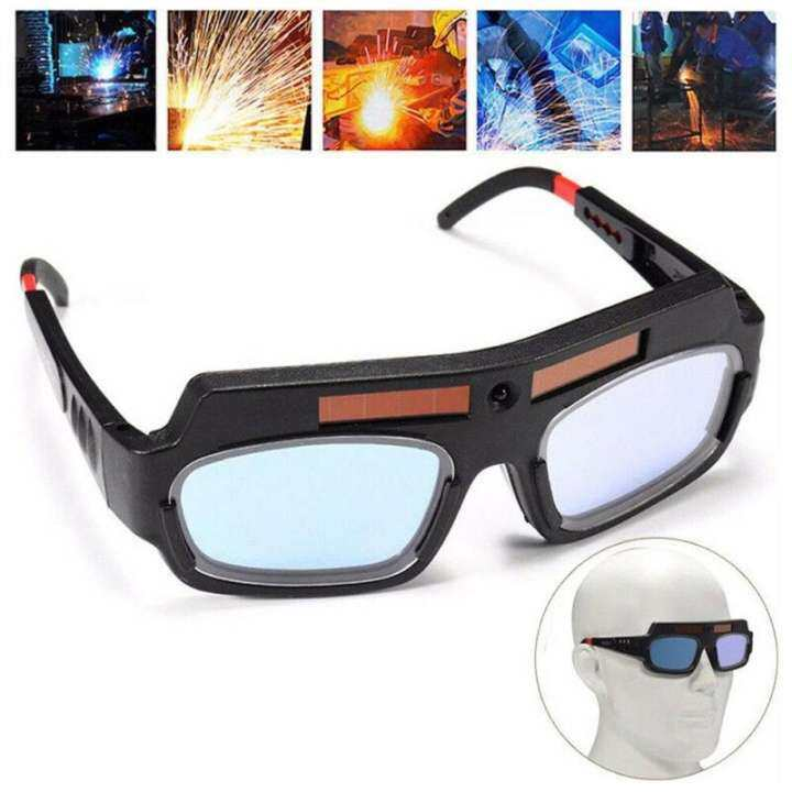 Solar Powered Auto Darkening Welder Glasses Welding Safety Helmet Eyes Goggles