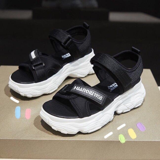 Thể Thao Dép Nêm Giày Nữ Thường Ngày Thoải Mái Mùa Hè Mới 2021 Ins Thời Trang Giày Đế Dày Tăng 5Cm giá rẻ