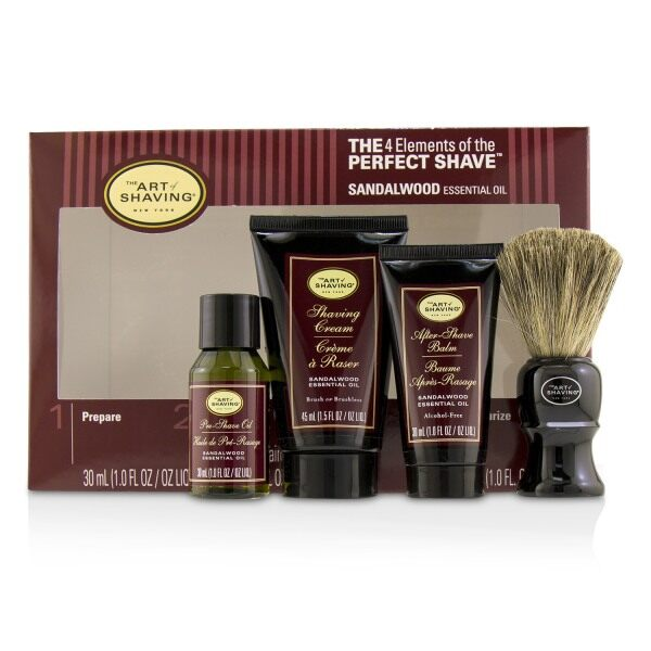 Buy THE ART OF SHAVING - The 4 Elements of the Perfect Shave Mid-Size Kit - Sandalwood 4pcs Singapore