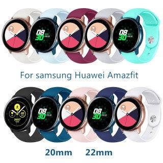 Cho Samsung Galaxy Đồng Hồ Hoạt Động 2 Dây Đeo 46 Mm 42 Bánh S3 Đồng Hồ Huawei 2 Vòng Đeo Tay Silicon Mềm 20 Mm 22 Mm Dây Đeo Galaxy Dây Đồng Hồ thumbnail