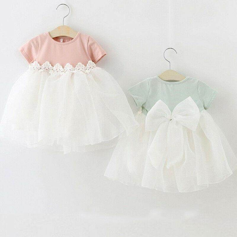47bd35bcea6b1 Newborn Kids Baby Girl Princess Bridesmaid Flowers Dress Summer Sundress  Clothes