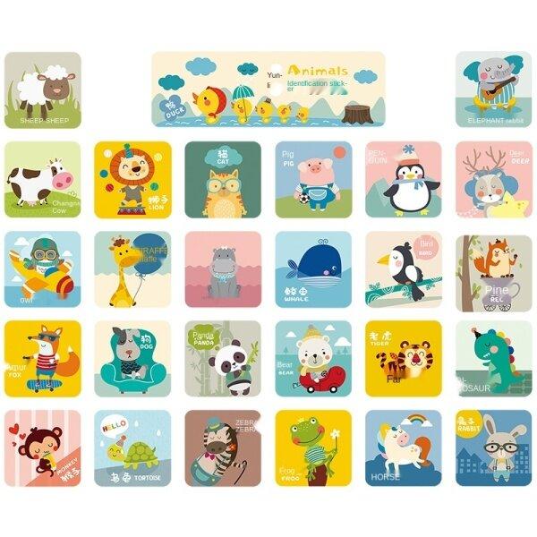 Cartoon animal wall stickers/infant children one bedroom decorative wallpaper room wallpaper adhesive