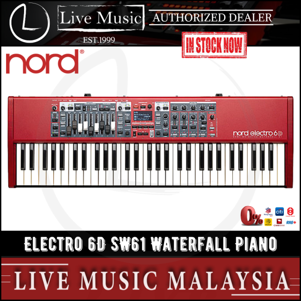 Nord Electro 6D 61 Semi Weighted Waterfall Stage Piano Malaysia
