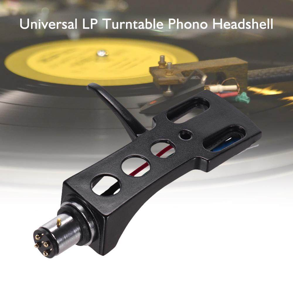 Universal LP Disc Record Player Phono Turntable Headshell 4-pin Aluminum Alloy with OFC Leadwires Gold-plated Terminals for LP120-USB/ LP240-USB/ LP1240-USB/ AT-LP5 Direct-drive Turntable