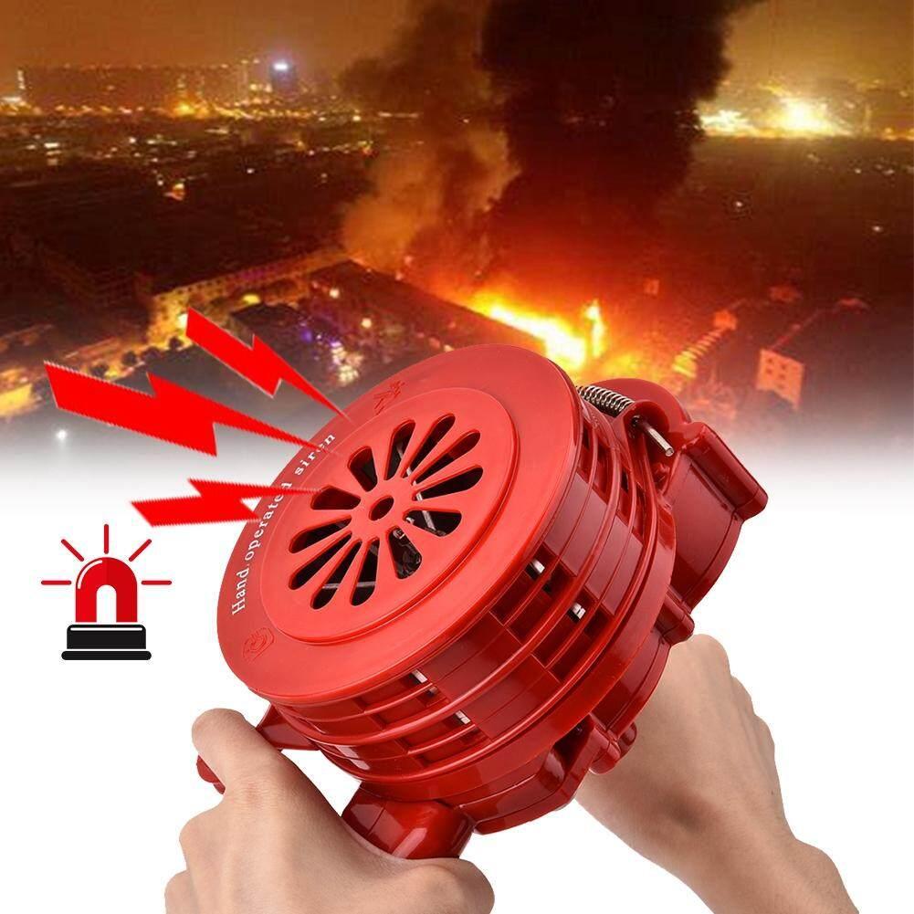 Portable Hand Crank Alarm Plastic Shell Manual Operated Air Raid Alarm