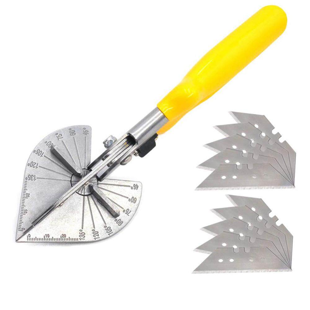 [Yige]Multi Angle Miter Cutter Hand Shear Trim Tools 45-135° with 10 Spares Blade for Plumbers Electricians Carpenters