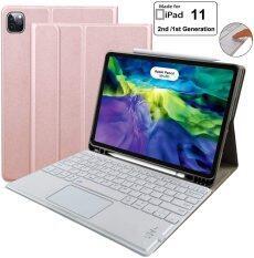 Vỏ Bàn Phím Cho iPad Pro 11 2020 (Thế Hệ 2) Ốp Lưng iPad Pro 11 Với Bàn Phím 2018-Không Dây Có Thể Tháo Rời- Với Hộp Đựng Bút Chì-Nắp Gập Đứng-Bàn Phím iPad Pro 11 Inch Cho Máy Tính Bảng