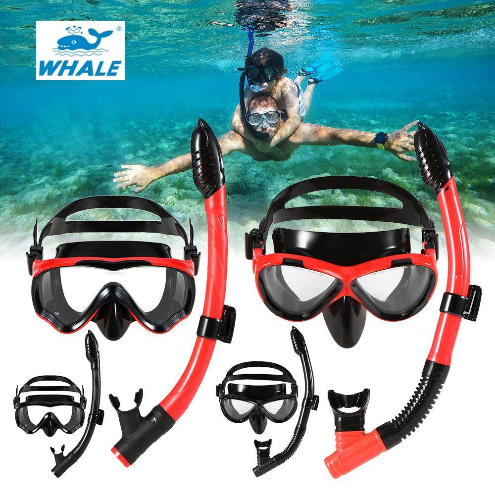 【New arrival】Original WHALE MK900 + SK900 Professional Adult Diving Silicone Mask Glasses Snorkel