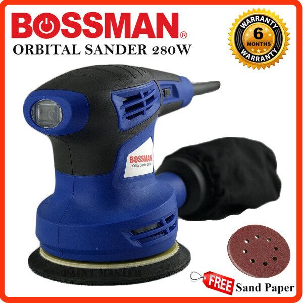 BOSSMAN BOS5032 Orbital Sander 280w foc sanding paper & dust collection bag