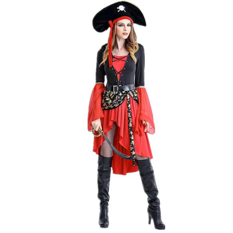 Sexy Women Pirate Costume Woman Plus Size Female Halloween Fancy Party Dress Carnival Adult Pirate Jack Sparrow Cosplay Costumes