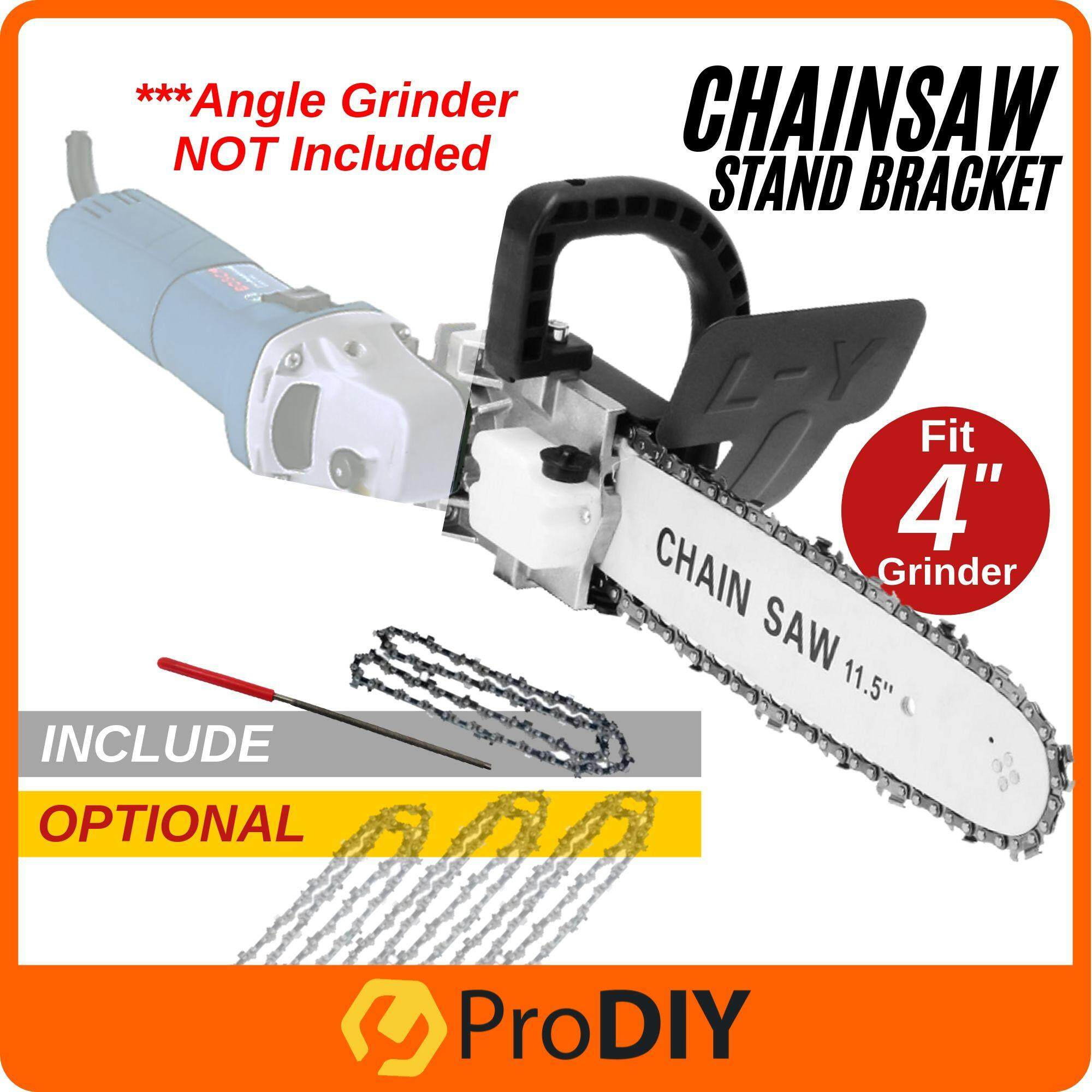 Fox / PRO-DIY Chainsaw Stand Bracket Attachment WITHOUT Angle Grinder Chain Saw For All 4  Angle Grinder ONLY FOC Chain Saw File image on snachetto.com