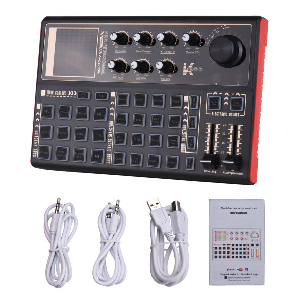 Muslady SK300 Live Sound Card External Voice Changer Audio Mixer Multiple Sound Effects for Live Streaming Music Recording Smartphone Computer Game Malaysia
