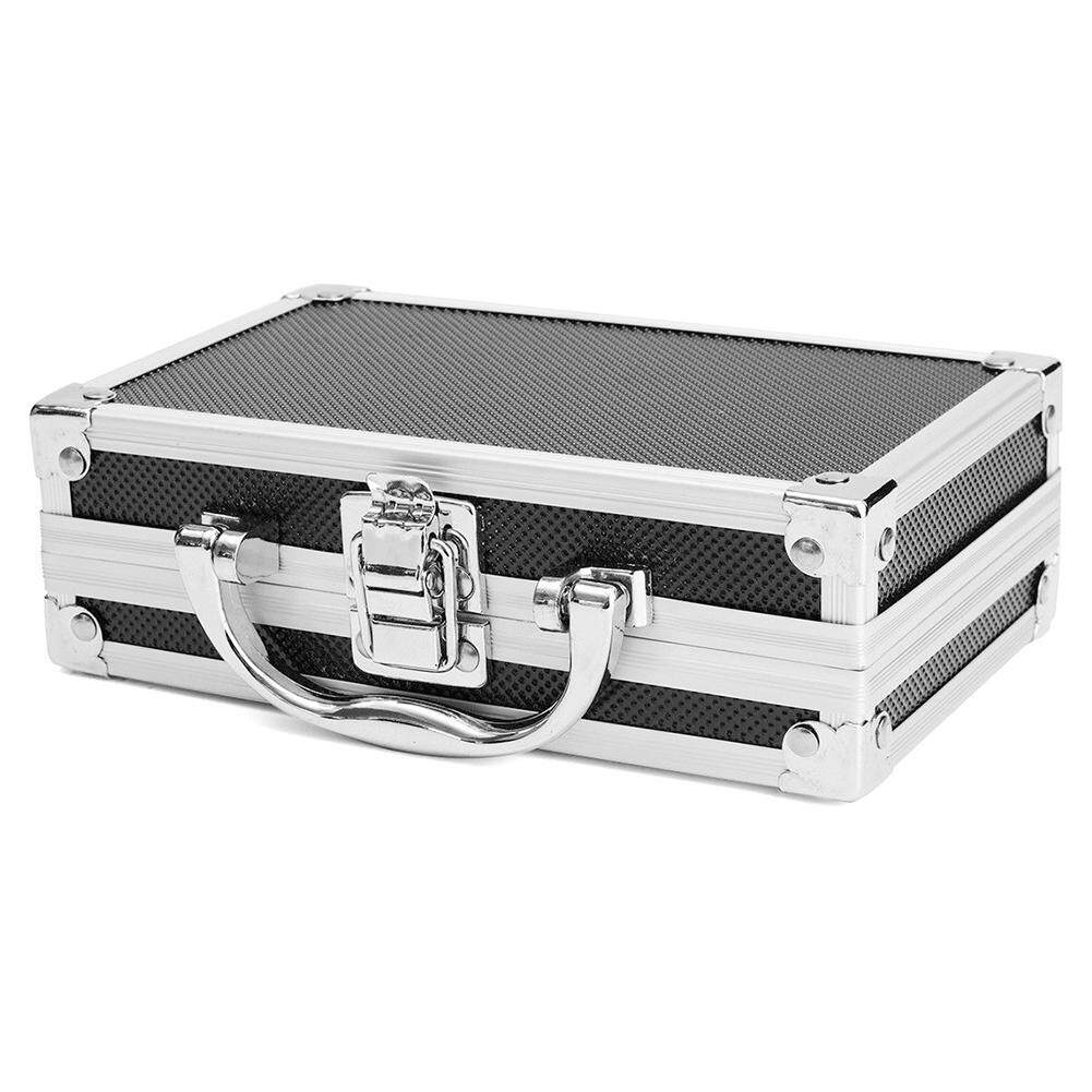 Hard Carry Aluminum Alloy Travel Organiser Lightweight Durable Magic Props Practical Carry Case Storage Portable Tool Box Sponge Inside Sturdy