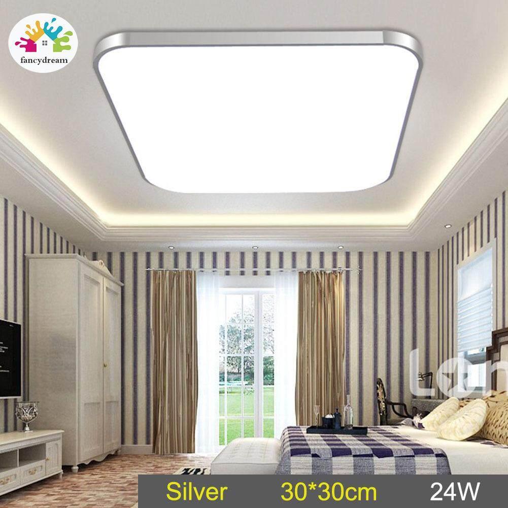 Fancydream ĐÈN LED Âm Trần Downlight Đèn 24 Wát Vuông Tiết Kiệm năng lượng Cho Phòng Ngủ Phòng Khách