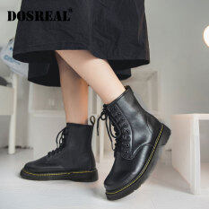 DOSREAL Nữ Unisex Khởi Động Da Thời Trang Hàn Quốc Phụ Nữ Giày Bốt Bệt Mắt Cá Chân Cho Kích Thước Cho Nữ 36-43 Phụ Nữ Phụ Nữ Giày