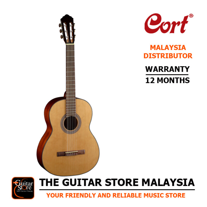 Cort AC200 Budget Solid Spruce Top Classical Guitar With Gigbag Malaysia