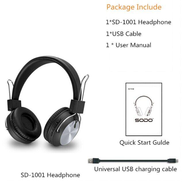 SD-1001 Tai Nghe Không Dây Bluetooth 5.0 Tai Nghe Stereo Có Thể Gập Lại Có Thể Điều Chỉnh Tai Nghe Với Mic Dành Cho Điện Thoại Pc Xiaomi Huawei