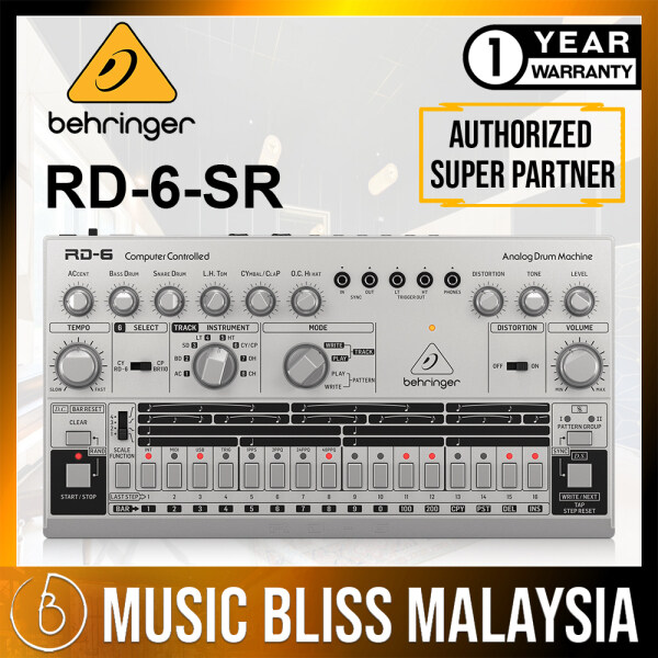 Behringer RD-6-SR Analog Drum Machine - Silver (RD-6 / RD6) Malaysia