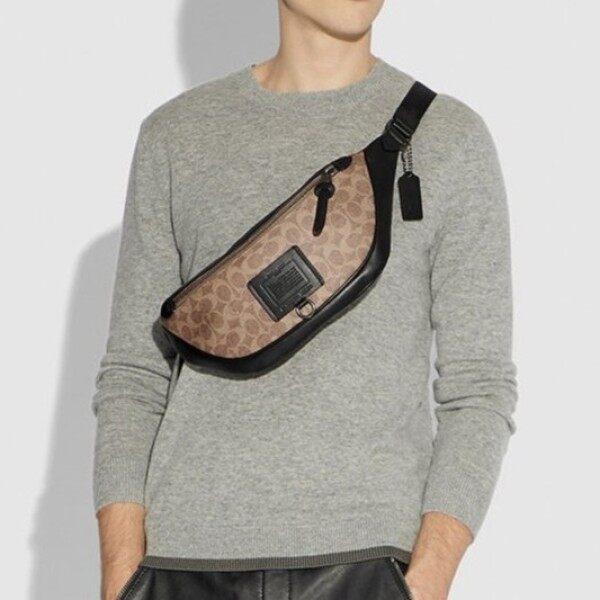 [READY STOCK] Coach Chest Bag / Waist Bag Pouch / Sling Bag Women Men 3colors