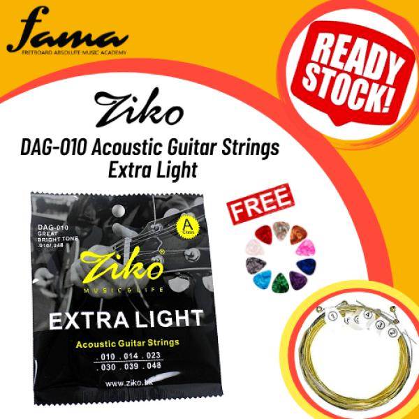 [FAMA][READY STOCK] Ziko DAG010 Acoustic Guitar Strings Extra Light Malaysia