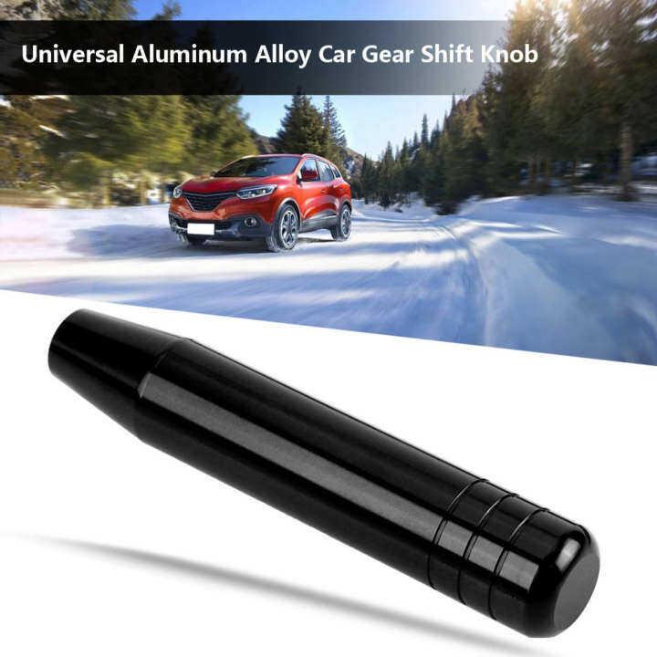 Universal Aluminum Alloy Car Manual Gear Shift Knob Handle Shifter Lever 18cm Gear Shift Knob Black