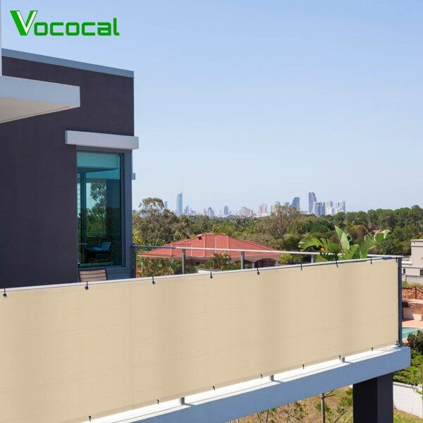【In Stock】Vococal Balcony Shield UV Protection Privacy Screen Screening Cover for Backyard Deck Patio Balcony Fence Pool Porch Railing 3 x 16ft