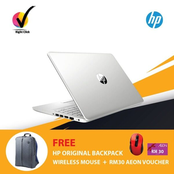 HP 14s-dk0106AU Notebook Natural Silver 8DS83PA /AMD A4-9125 /4GB/128GB SSD/AMD Radeon/14-Inch/Win 10 Malaysia