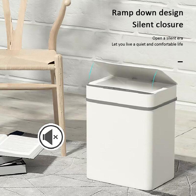 sikiwind 12L Thùng rác thông minh  cảm ứng tự động cảm biến chuyển động hồng ngoại Thùng rác trang chủ nhà bếp phòng tắm chất thải Thùng rác Trắng