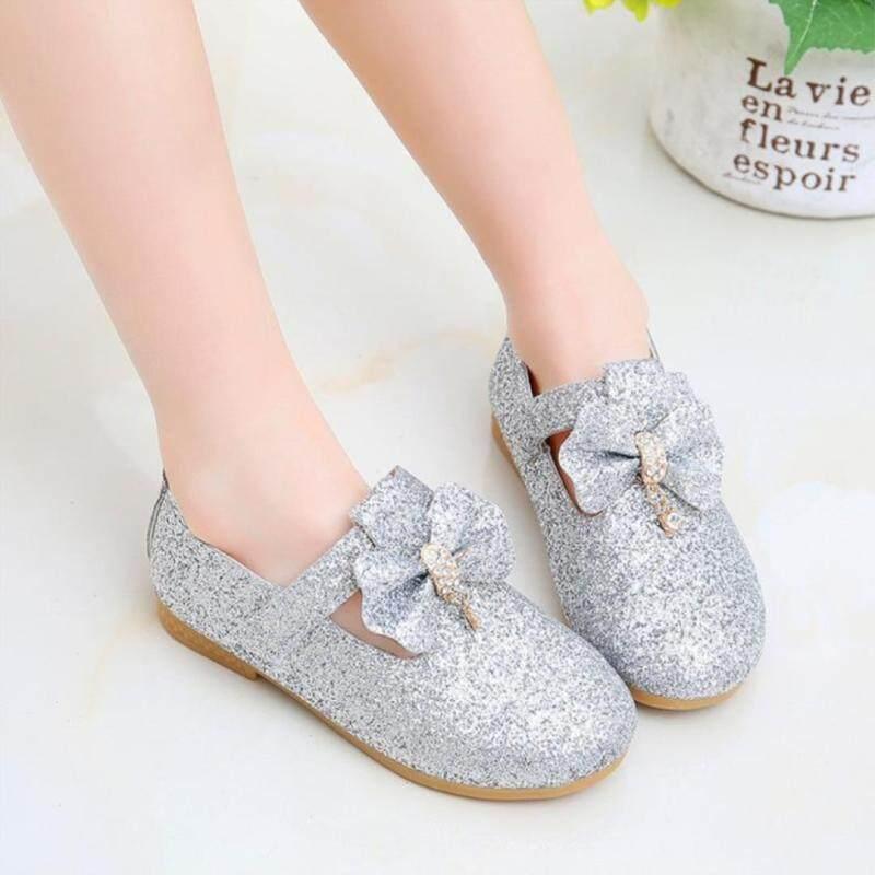 Giá bán 1-10 năm Giày Trẻ Em Mới Phong Cách Giày Công Chúa Nơ Nhảy Múa Giày Công Chúa Đáng Yêu Giày