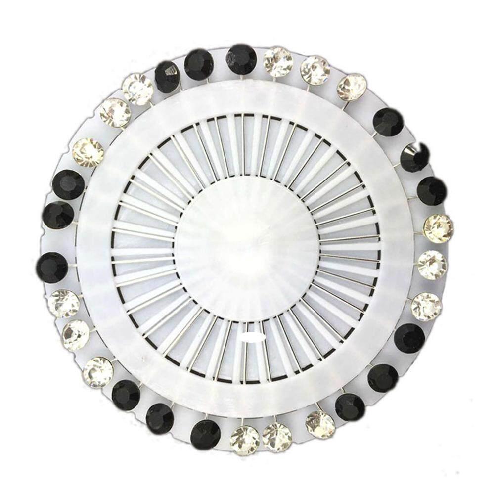 5f6b1328af2 30PCS Black-White Fashion Crystal Rhinestone Muslim Hijab Brooches Scarf  Pins