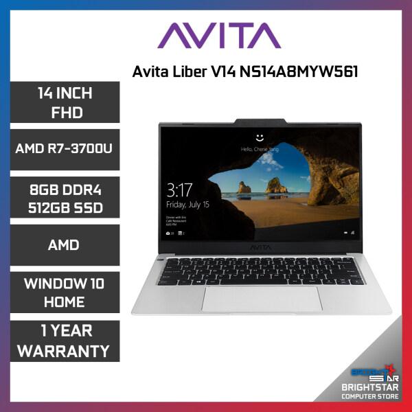 Avita Liber V14 NS14A8MYW561 Laptop ( 14 FHD / AMD Ryzen / R7 3700U / 8GB Ram / AMD Graphic / Windows 10 / 1 Year Warranty ) Malaysia