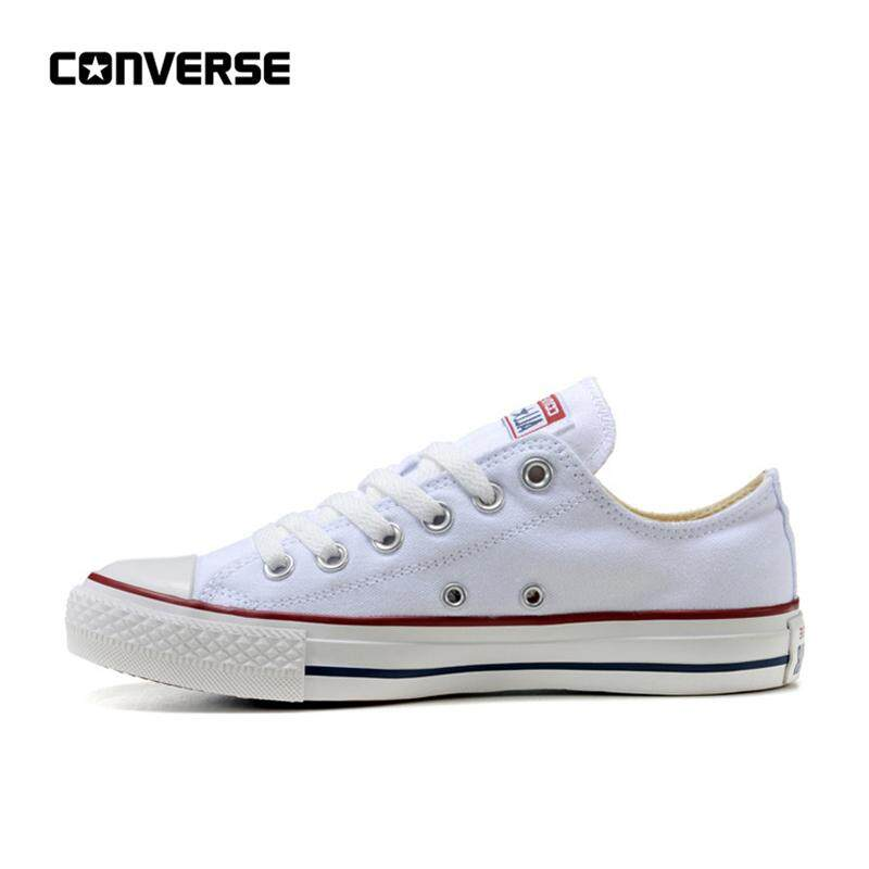 556a8294c8 Converse All Star Classic Canvas Low Top Skateboarding Shoes Unisex White  Anti-Slippery Sneakser 35-44