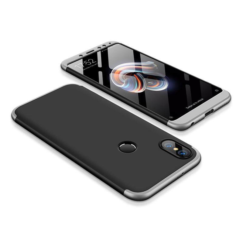 Baru 3-In-1 Casing Tahan Guncangan untuk Xiaomi Redmi Note 5Pro Penutup Belakang Case Jatuh Pelindung HP Mewah Case Matte Anti -Sidik Jari 360 Derajat Penuh Perlindungan Ultra Tipis Fashion Hard Hibrida PC