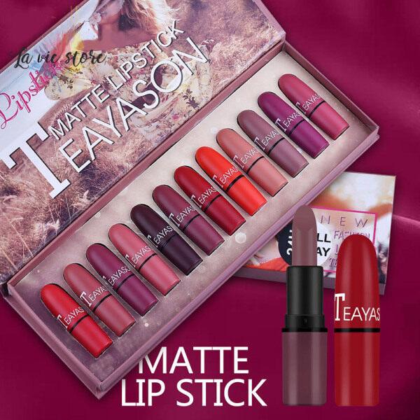 Buy [La vis] Lasting Matte Lipstick 12pcs Set Moisture Lips Vibrant Pigmented Silky-smooth Singapore