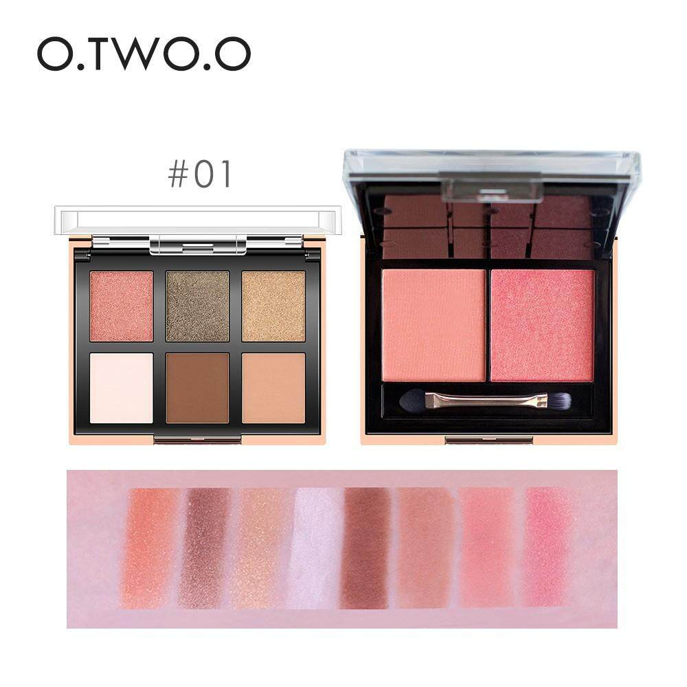 O 2019 new Palette Eyeshadow/Glitter Blusher Pallete#01