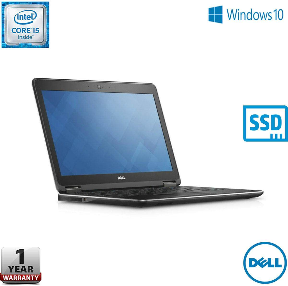 DELL LATITUDE E7250 12.5 INCH ULTRABOOK [CORE i5-5TH GEN / 8GB RAM / 256GB SSD STORAGE / 1 YEAR WARRANTY / FREE BAG] Malaysia