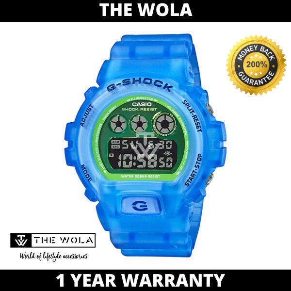 Casio G-Shock Mens Digital DW-6900LS-2DR Semi-Transparent Blue Resin Band Sport Watch Malaysia