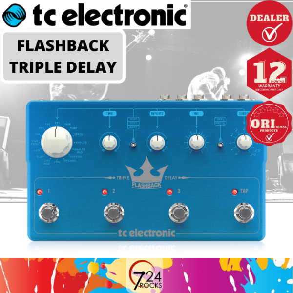 724 ROCKS TC Electronic Flashback Triple Delay Guitar Effects Pedal Malaysia