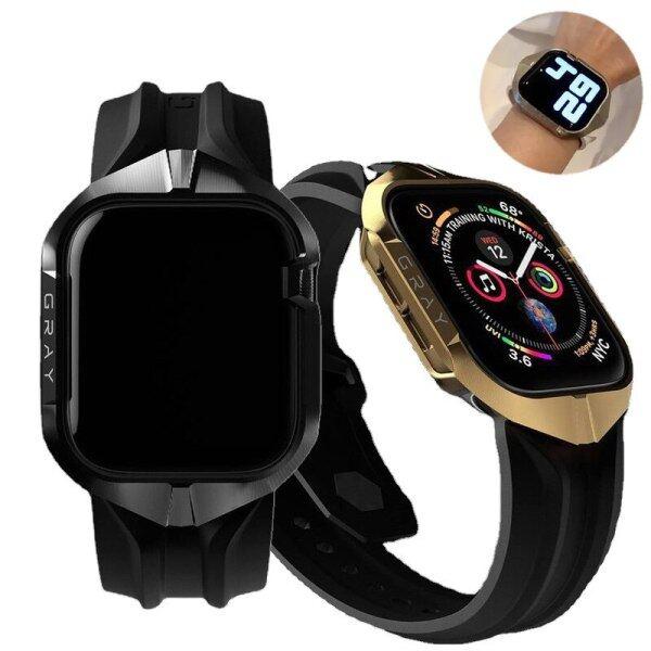 Ốp Kim Loại Cho Apple Watch 42Mm 44Mm, Ốp TPU Cho I Watch Series 4 5 6, Phụ Kiện Thay Thế Kèm Hộp